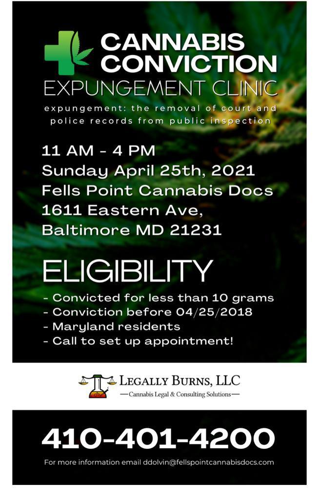 cannabis expungement baltimore maryland