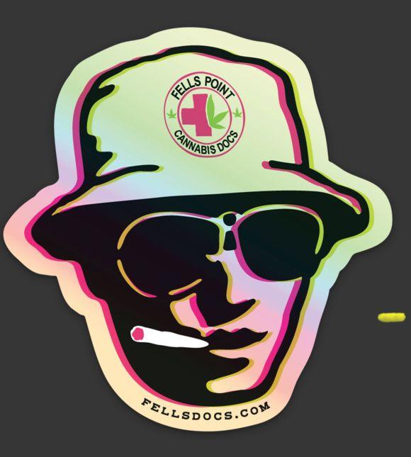 Fells Point Cannabis Docs Shiny Sticker